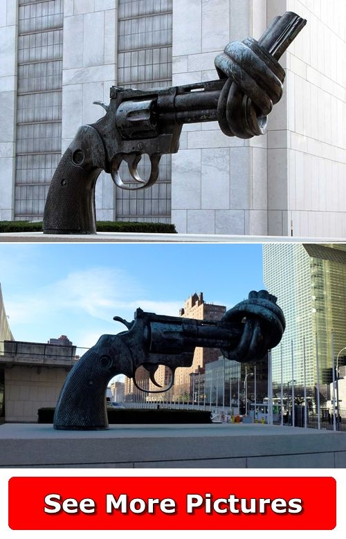 Non-Violence Sculpture - New York, USA ... http://666travel.com/non-violence-sculpture-new-york-usa/