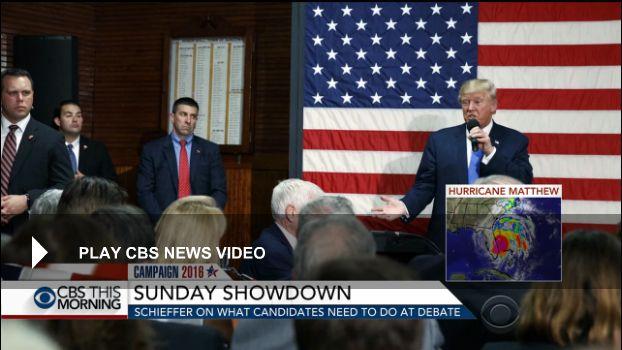 08 Oct. 2016: Second presidential debate 2016: Five things to watch