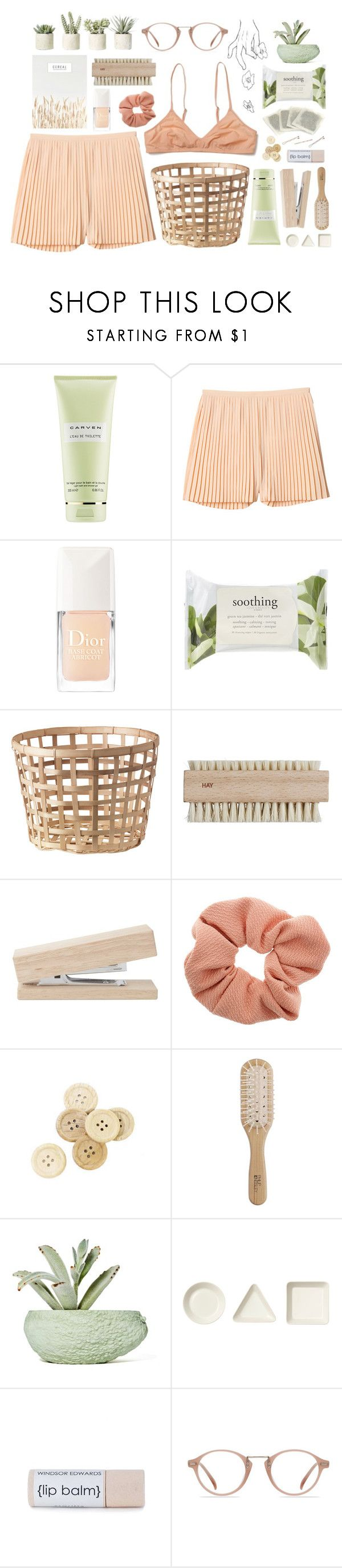 """Lazy Days 🍑"" by kirvil ❤ liked on Polyvore featuring Carven, Monki, Christian Dior, Forever 21, HAY, Dorothy Perkins, C.R.A.F.T., Philip Kingsley, Chen Chen & Kai Williams and iittala"