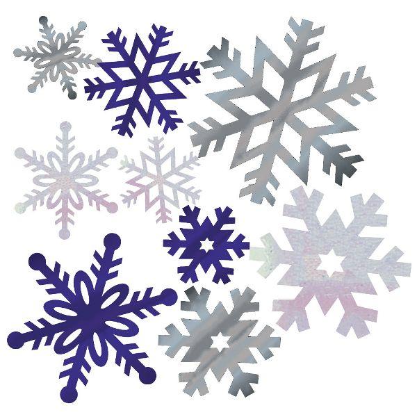 Holiday Snowflake Foil Cutout Assortment 12pcs                                                                                                                                                                                 Mehr
