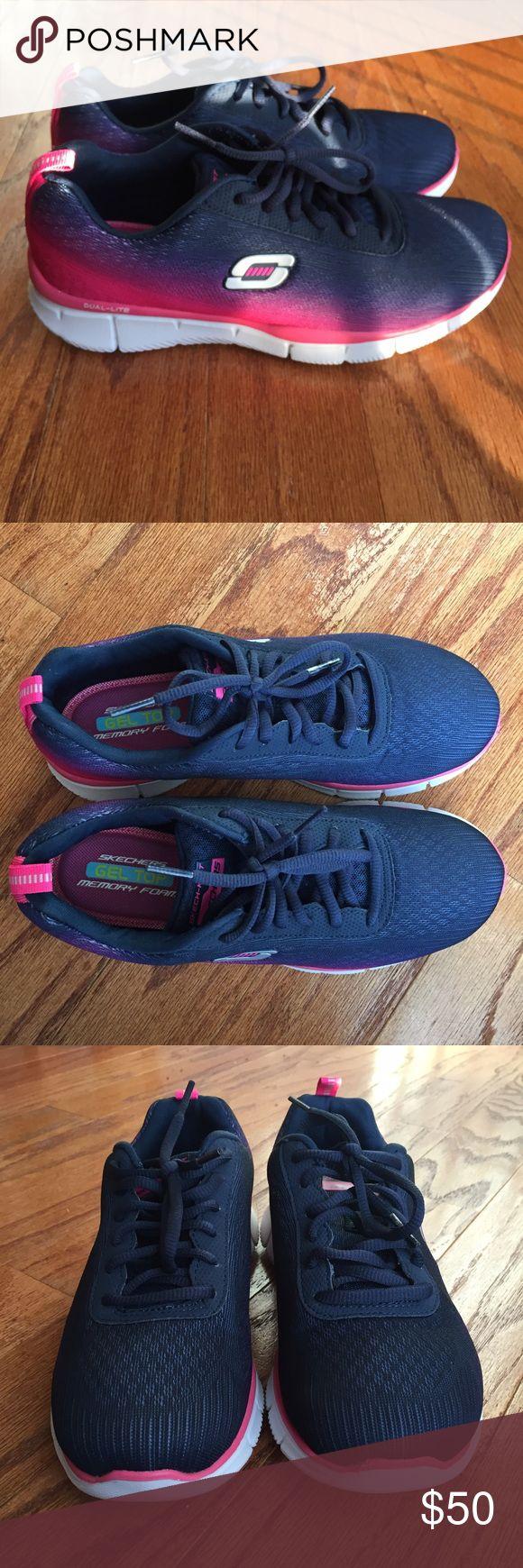 Women's Athletic Shoes Brand new gradient Skechers! Never worn before. Memory foam bottom, very comfortable!! Skechers Shoes Athletic Shoes