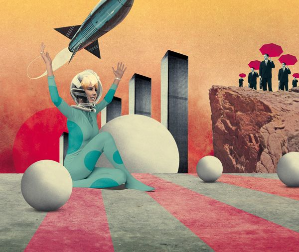 Collage of Julien Pacaud - one of my favs.