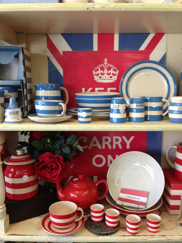 Cornish Crockery. Cornish Blue - T.G Green since 1920. The Famous Blue and White. Introducing new Cornish RED!