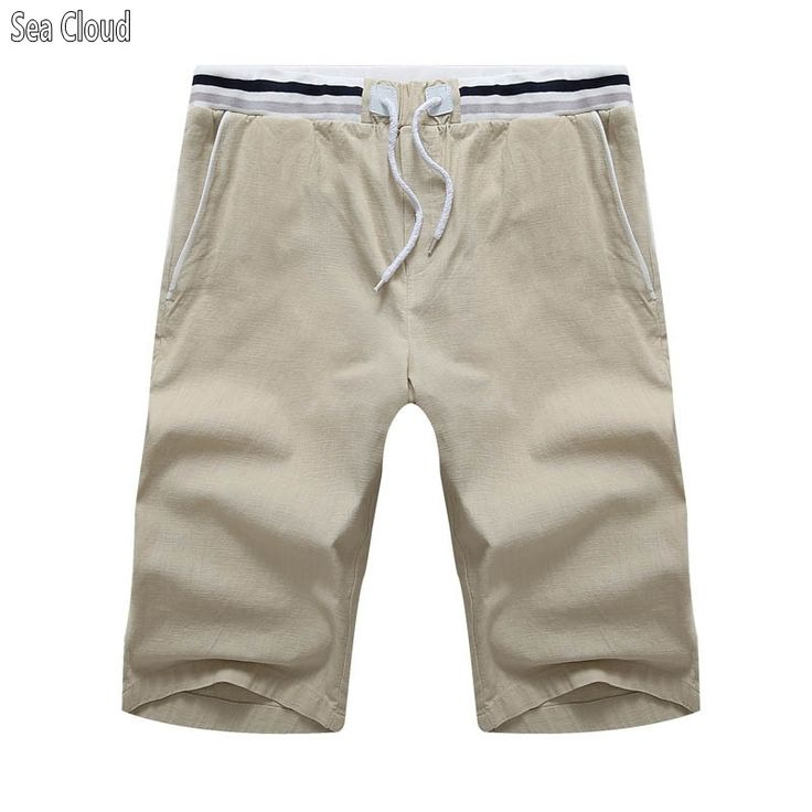 Sea Cloud Free shipping mens summer shorts plus size 10xl casual Linen male elastic Drawstring man shorts short trousers 150kg