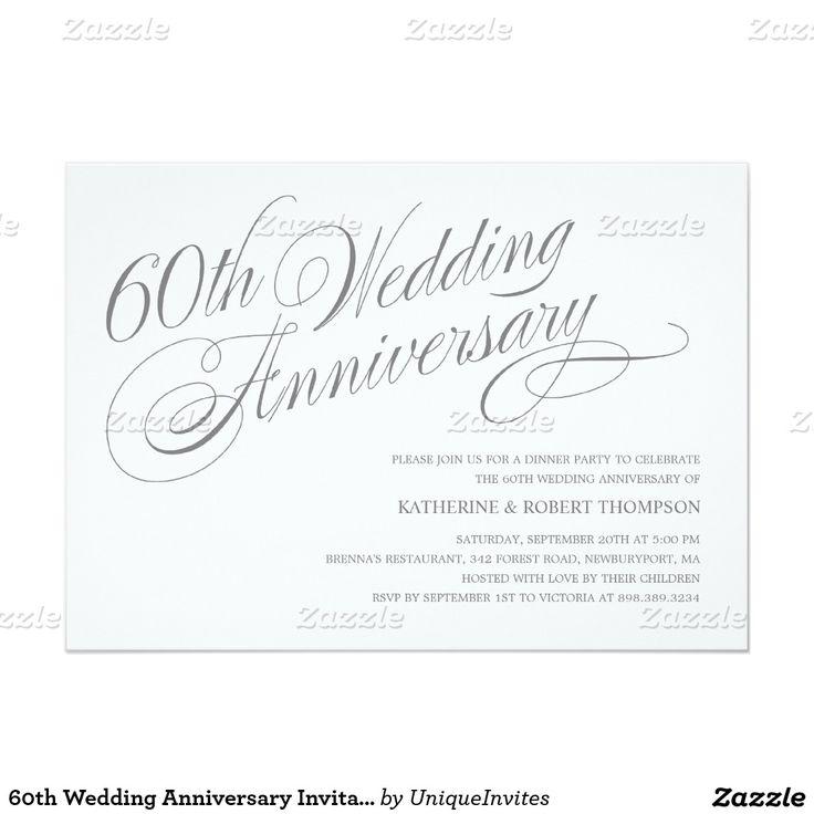10 best Wedding Anniversary Invitations images on Pinterest   Lyrics ...