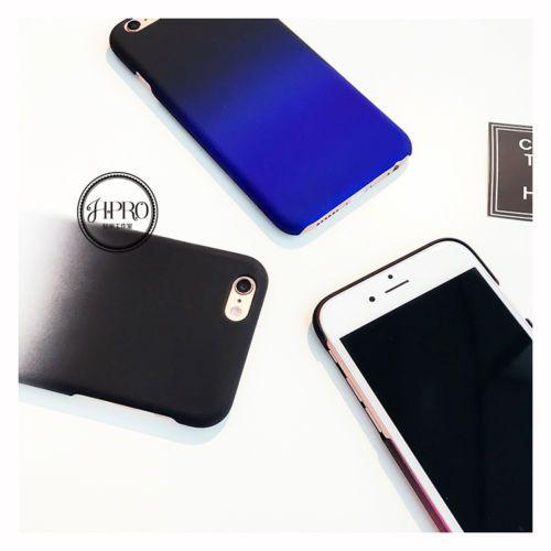 Fashion Simple Cute Purple Blue Matte Hard Case Cover Skin For iPhone 6 6S Plus