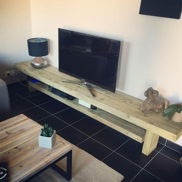 meuble tv fait maison par mon homme d coration pinterest meuble tv mon homme et fait maison. Black Bedroom Furniture Sets. Home Design Ideas