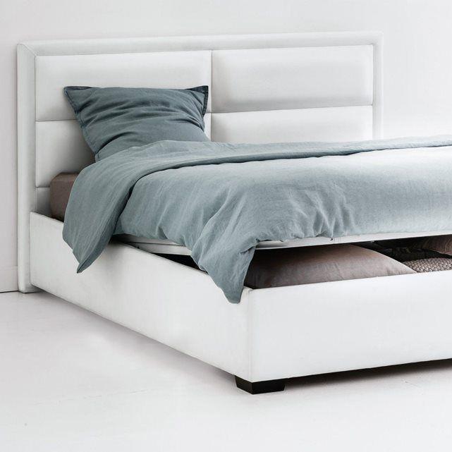 1000 id es sur le th me lit coffre 160x200 sur pinterest lit rangement can - Lit avec tete de lit rangement 160 x 200 ...