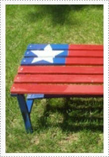 22 best picnic and patio images on pinterest woodworking chairs and furniture for Can you use interior paint outdoors