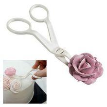 Najnowszy kątowy delikatny kwiat Lifter Sugarcraft Kremówka Przenieś Przeniesienie Scissor tort Decor Craft Tool (Chiny (kontynentalne))