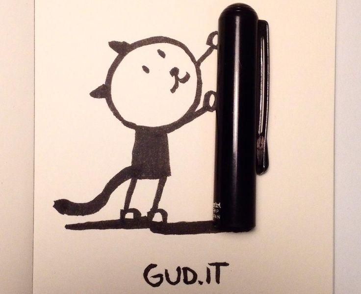 Da tempo il fumettista Gud, al secolo Daniele Bonomo, posta regolarmente sui social network immagini di film famosi - http://c4comic.it/2014/12/25/gud-il-suo-gatto-nei-film-natalizi/