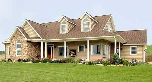 Traditional Style Ranch-Farmhouse W/ Wrap-around Porch