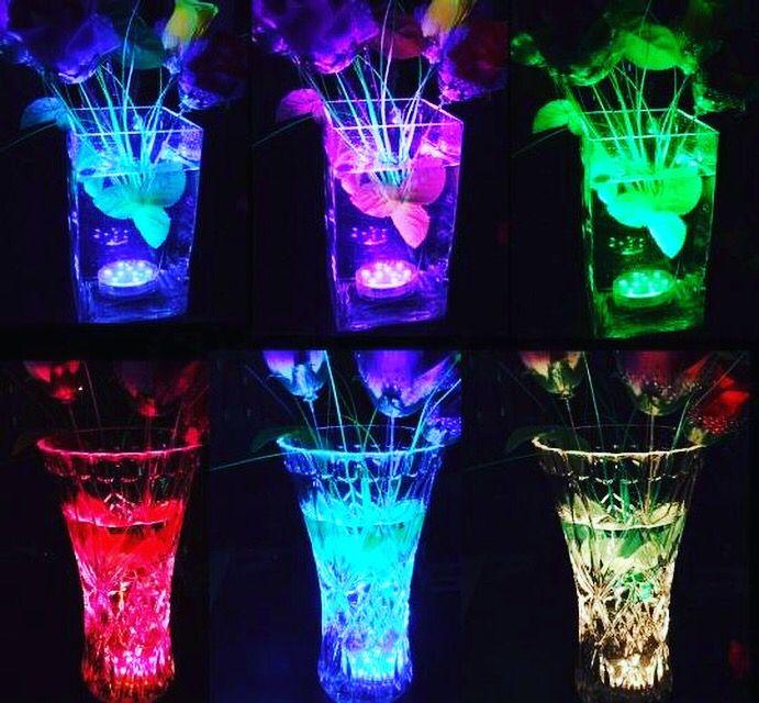 LED decoratie verlichting!  Waterdichte unit kan in een vaas geplaatst worden.  Laat de kleuren langzaam in elkaar overlopen. Uniek in Nederland en in België  Led decoration unit in a vase Waterproof led unit led #vaas #decoration #feest #party #event #eventplanner #stylist #styling #horeca #disco #wedding #trouwen #verlichting #ledunit #decoratie #evenement #evenementenbureau @lampionlampionnen.nl #led Weddingideas  Marriage inspiratiebron Bruiloftsborden