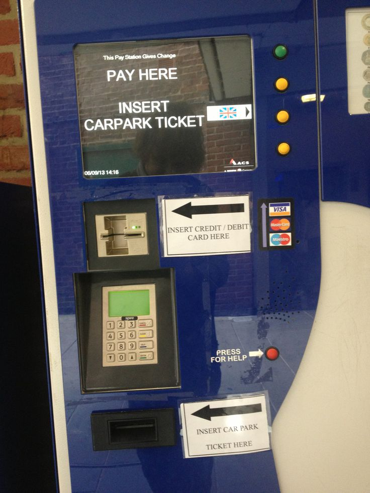 Car park ticket machine flow misery