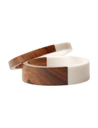 two-tone bangle set
