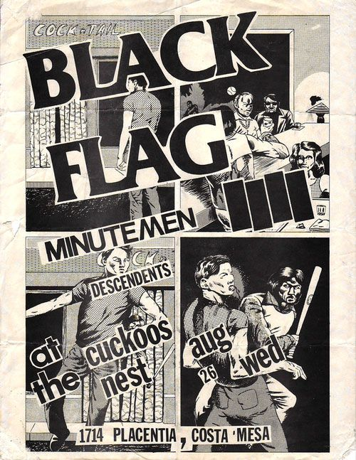 Pretty Much Every Single Black Flag Flyer Designed by Raymond Pettibon