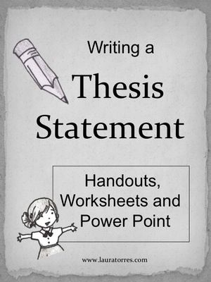 28 best Writing-Thesis Statements images on Pinterest Teaching - thesis statement