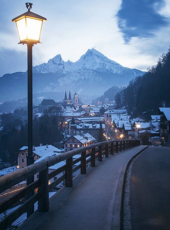 In the German town of Berchtesgaden, in the Bavarian Alps bordering Austria.