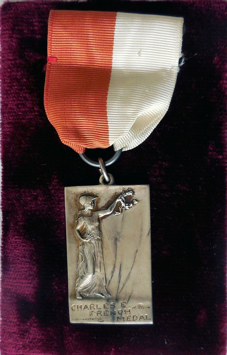 This early 20th century academic award was given to a high academic achiever in the Bangor High School, Bangor, ME.  Charles E. French bequeathed