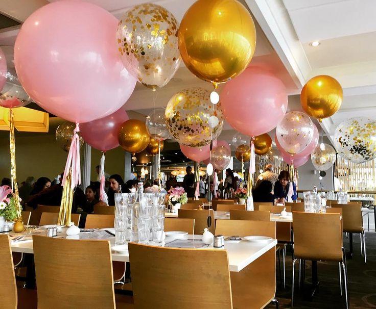 Jumbo balloons, Glitter balloons, Gold Metallic Orbz