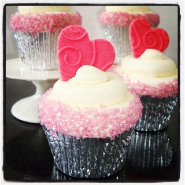 Sweetheart cupcakes | I Heart Cupcakes | Pinterest