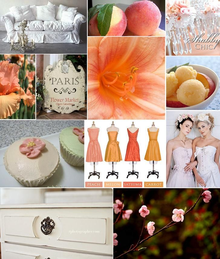 shabby chic and peachy