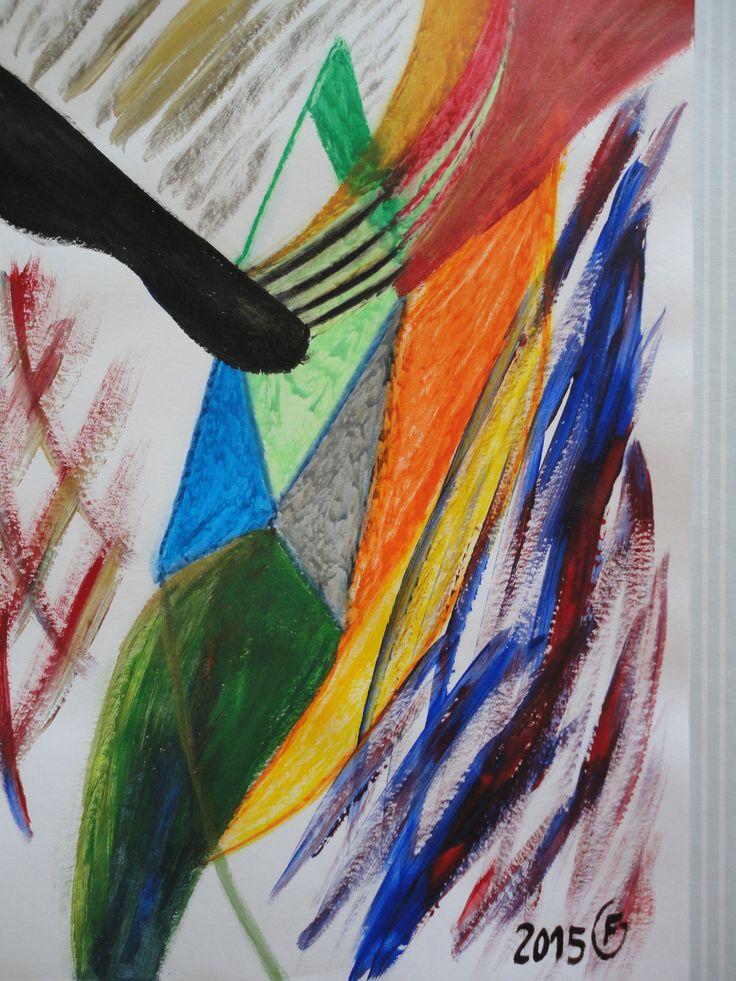 Este quadro está à venda, Pastel de óleo e acrílico sobre papel cavalinho. Baseio-me nas ideias instantâneas. Guardo pequenos esboços que trabalho mais tarde. 45 euros A4 (tamanho)
