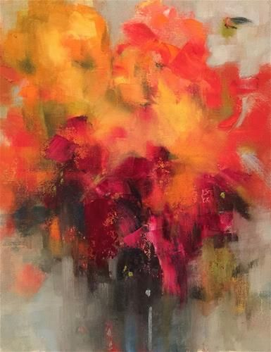 abstract painting of flower