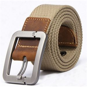 Picture of Fashion Casual men belt buckle canvas real leather fashion canvas belt for men