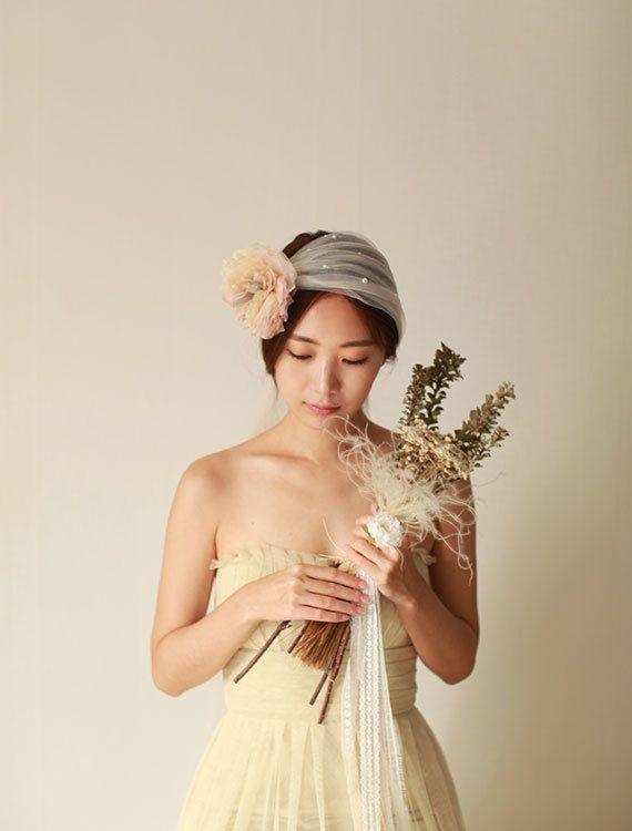 Bridal Hair Veil Bridal Hair Accessory Wedding Hair by mellowdear