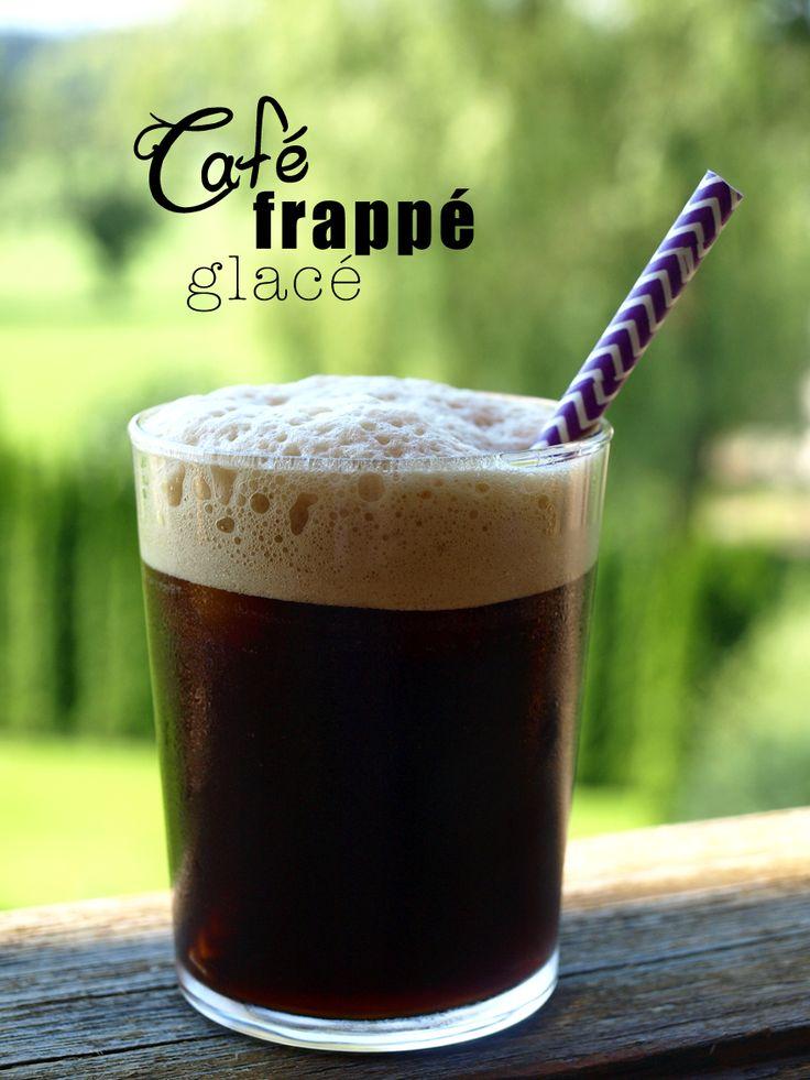 Café frappé glacé maison