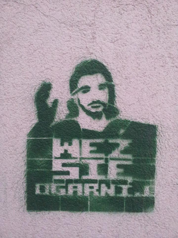 ''put your shit together'' ;)  Politechniki 10 street, lodz, poland