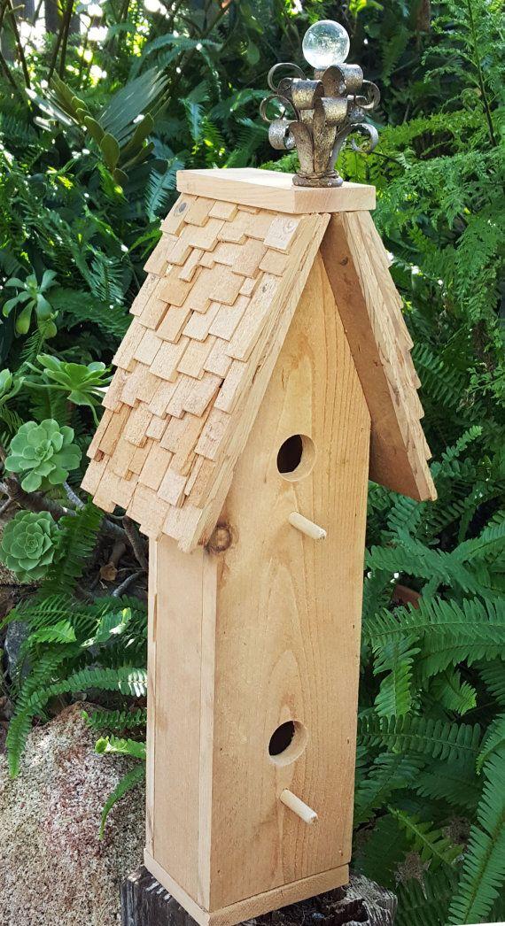 Shake shingled victorian birdhouse by Wattzhapnin on Etsy
