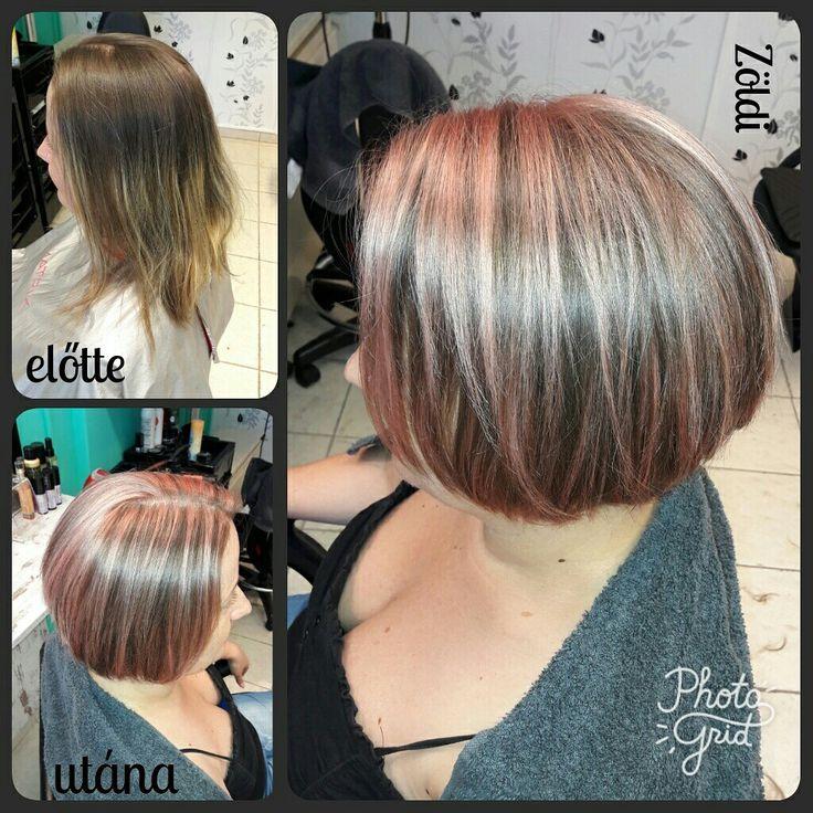 #zöldiszilvia #mywork #munkám #haircut #hajvágás #hajfestés #haircolor