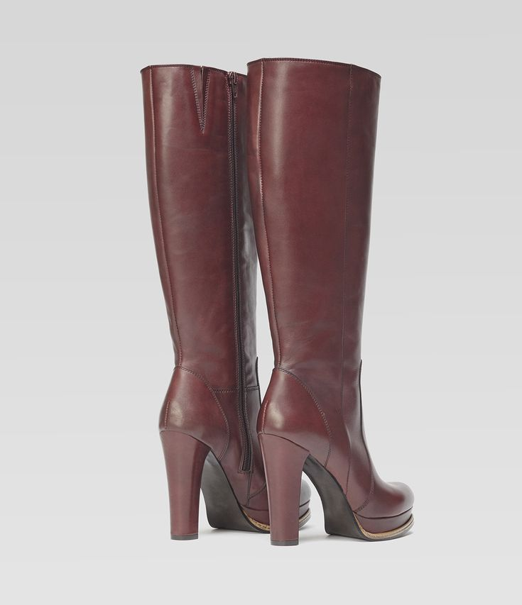 Langschaftstiefel Eva bordeaux #poilei #stiefel #boots #plateau #bordeaux #boots #collectionssaw15  #winter #autumn