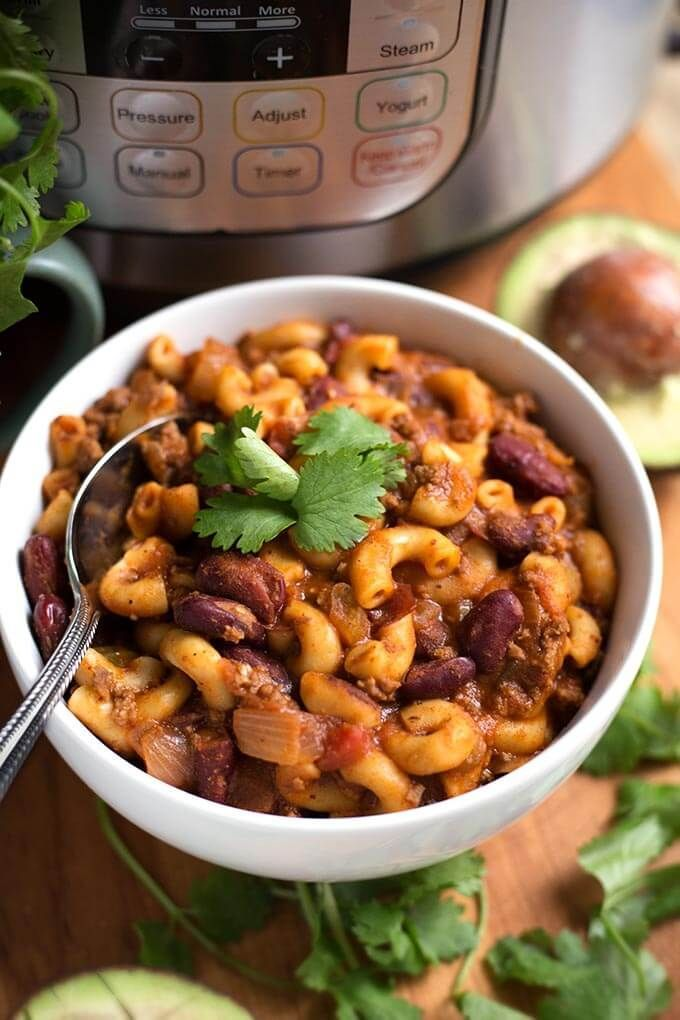 Instant Pot Chili Mac is a one pot meal you make in your electric pressure cooker. Use either ground beef or ground turkey. Also a Cheesy Chili Mac option