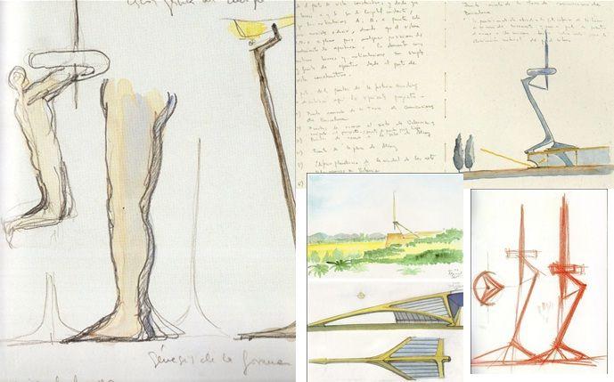 Original Sketches by Santiago Calatrava