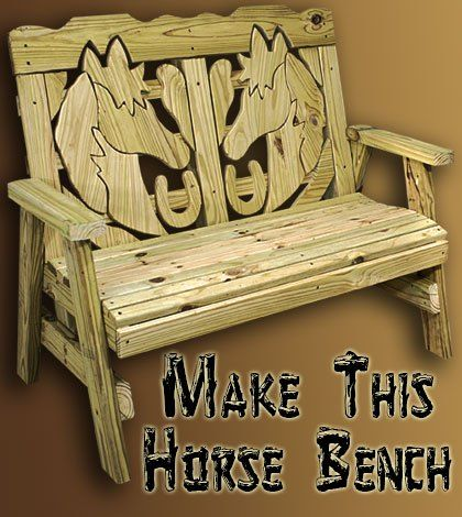 How To Make A Horse Themed Bench - Jays Custom Creations
