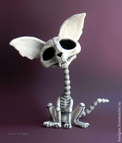 Кладбище домашних животных - белый,кости,скелет,кот,труп,прикол,скелет кошки