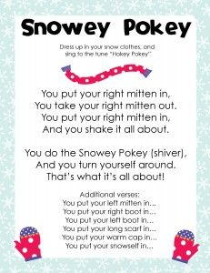 The Snowy Pokey! Perfect brain break or indoor recess activity for winter months.