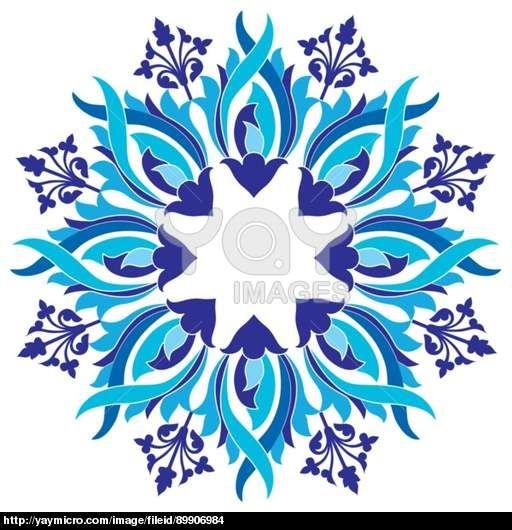 Ottoman motifs design series with eight version