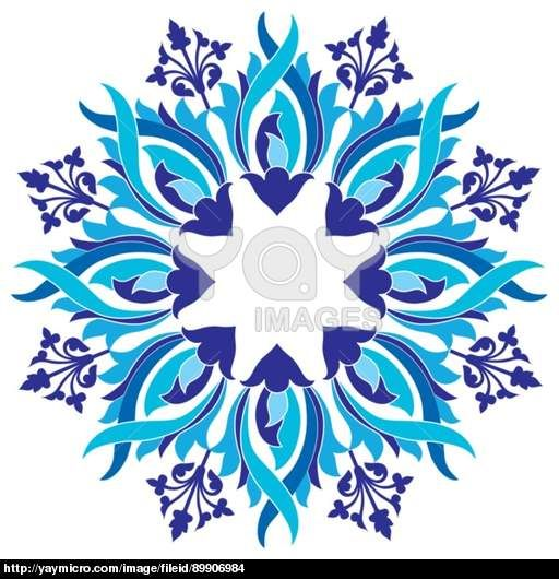 Ottoman motifs design series with eight version