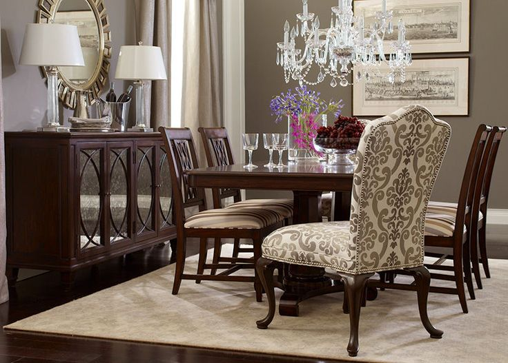 Ethan Allen Dining Room   I Think I Want Two Edwin Dining Chairs In This  Pattern Design Inspirations