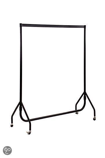 Kledingrek poedercoating zwart 150 cm