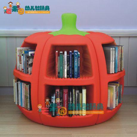 重磅強貨 塑料高檔儲物櫃 南瓜書架 圖書收納櫃收拾櫃 書本擺放架