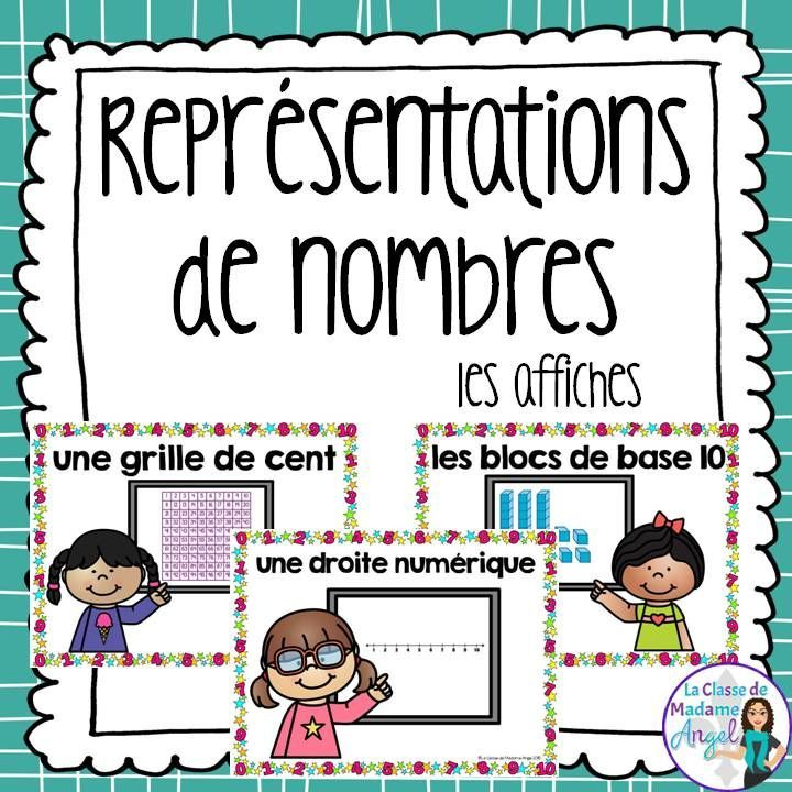 Les représentations de nombres.  Representing numbers posters in French!  Great reference posters for students.