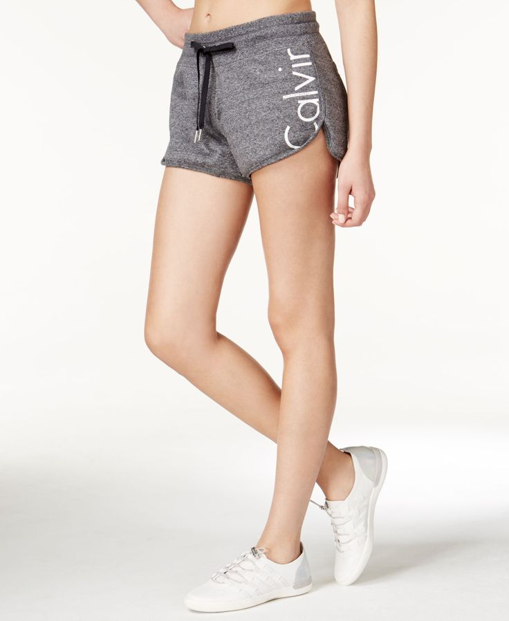 Classic terry shorts get a stylish update in this design from Calvin Klein Performance, featuring a logo at the left leg. | Cotton | Machine washable | Imported | Mid rise | Slim fit through hips and