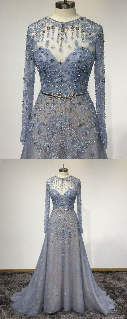 Blue Lace Customized O Neck Women Evening Dress Long Sleeve Senior Prom In 2018 Short Dresses Pinterest And