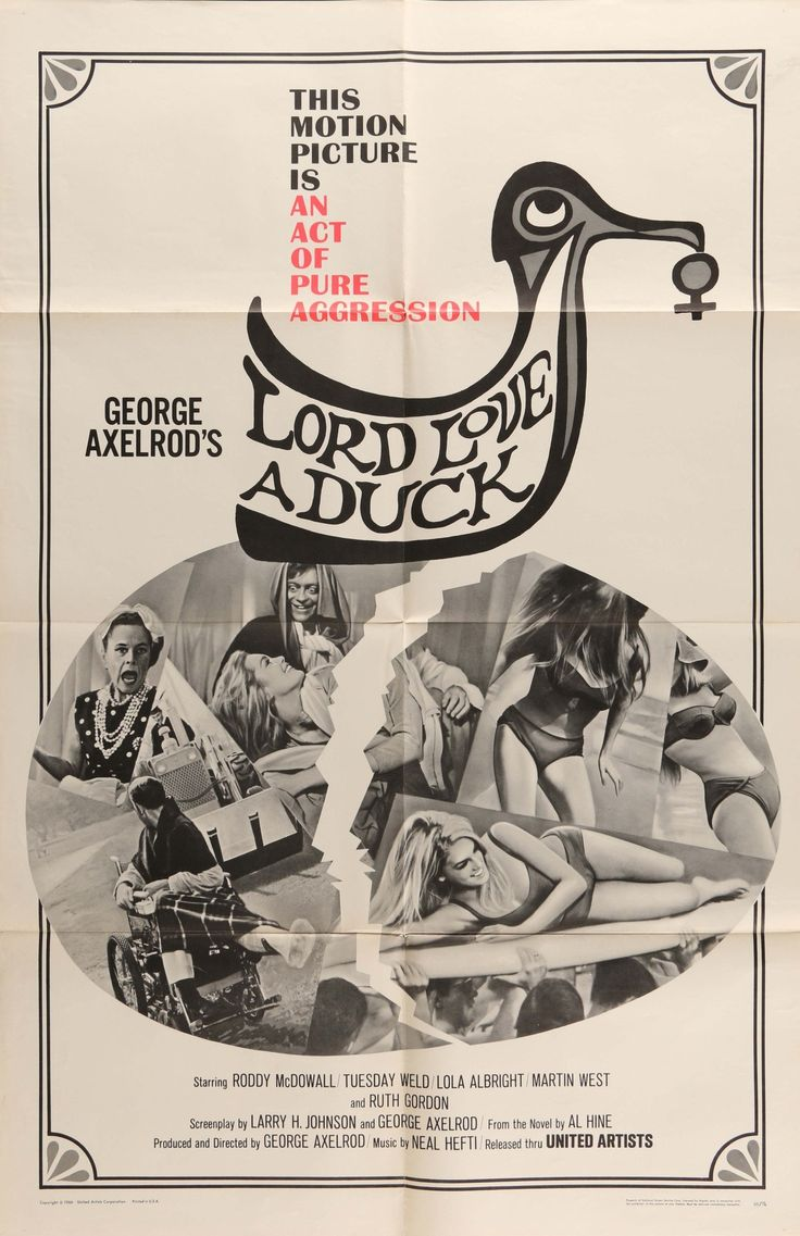 """Lord Love a Duck (1966) Vintage One Sheet Movie Poster - 27""""x41"""""""