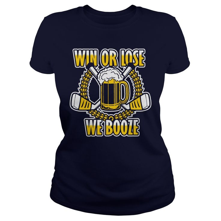 Win or Lose We Booze beer league hockey tshirt